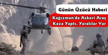 Kars'ta Askeri Araç Kaza Yaptı Yaralılar Var