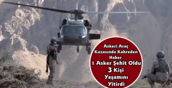 Kars'ta Askeri Araç Kazasında Biri Asker 4 Kişi Yaşamını Yitirdi
