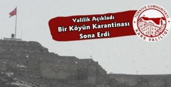 Kars'ta Bir Köyün Karantinası Kaldırıldı