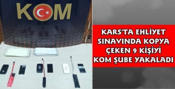 Kars'ta Ehliyet Sınavında Kopya Çeken 9 Kişi Yakalandı