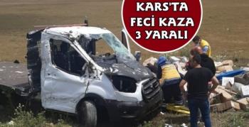 Kars'ta Feci Kaza 3 Yaralı