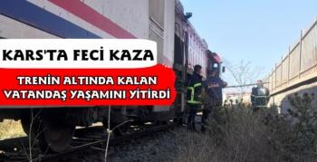 Kars'ta Feci Kaza, Trenin Altında Kalan Vatandaş Yaşamını Yitirdi