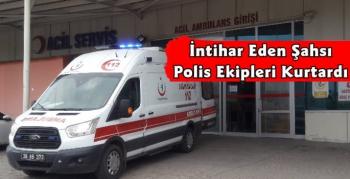 Kars'ta İntihara Kalkışan Adamı Polis Kurtardı