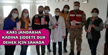 Kars'ta Jandarma'dan Kadınlara KADES Tanıtımı