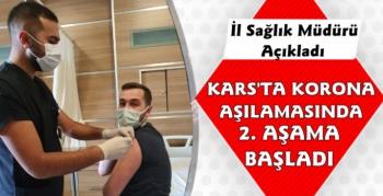 Kars'ta Korona Aşısında 2. Aşama Başladı