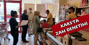 Kars'ta Marketlerde Haksız Fiyat Artışı Denetimi