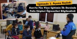 Kars'ta Polis Ekiplerinden Öğrencilere Kovid-19 Bilgilendirmesi