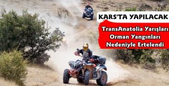 Kars'ta Sona Erecek TransAnatolia Rally Raid Yarışları Ertelendi