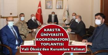 Kars'ta Üniversite Güvenlik Koordinasyon Toplantısı