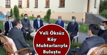 Kars Valisi Türker Öksüz Altı Köy Muhtarının Sorunlarını Dinledi