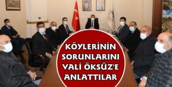 Kars Valisi Türker Öksüz Muhtarlarla Bir Araya Geldi