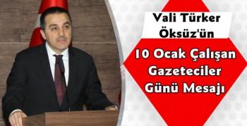 Kars Valisi Türker Öksüz'ün 10 Ocak Gazeteciler Günü Mesajı