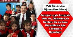 Kars Valisi Türker Öksüz'ün Yeni Eğitim Yılı Mesajı