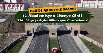 KAÜ'de 12 Akademisyen 'Türkiye'de En Çok Atıf Alan ve H index'i' Listesine Girdi