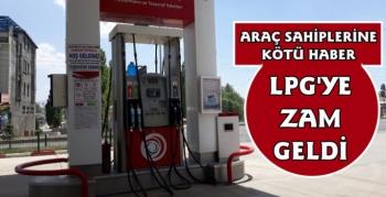 LPG'ye Zam Geldi