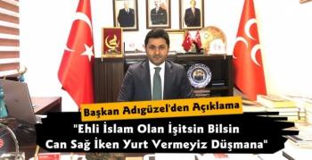 MHP Kars İl Başkanı Tolga Adıgüzel'den Aşık Şenlik Açıklaması
