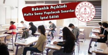 Milli Eğitim Bakanlığı Açıkladı Sınavlar İptal Edildi