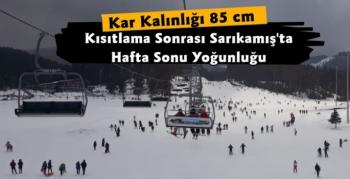 Sarıkamış'ta Kısıtlama Sonrası Kayak Yoğunluğu