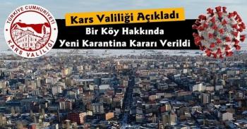 Valilik Açıkladı Kars'ta Bir Köy Karantinaya Alındı