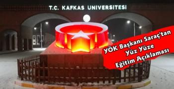 YÖK Başkanı Yekta Saraç'tan Yüz Yüze Eğitim Açıklaması