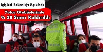 Yolcu Otobüslerinde % 50 Şartı Kaldırıldı