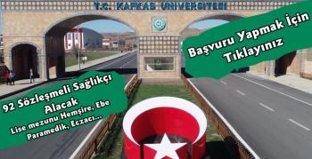Kafkas Üniversitesi 92 Sözleşmeli Sağlık Personeli Alacak
