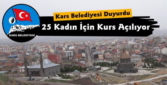 Kars Belediyesi ve İŞKUR Kurs Düzenliyor