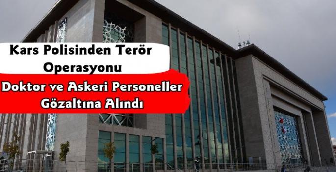 Kars Polisinden Terör Operasyonu 5 Gözaltı