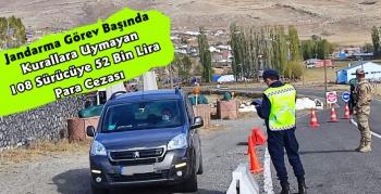 Kars'ta 108 Sürücüye 52 Bin Lira Para Cezası