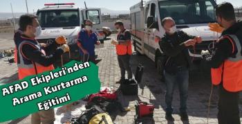 Kars'ta AFAD Ekipleri Gönüllülere Eğitim Verdi