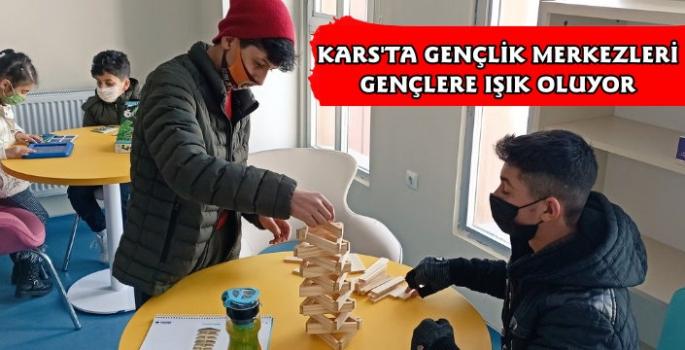 Kars'ta Gençlik Merkezlerine Gençlerden Yoğun İlgi