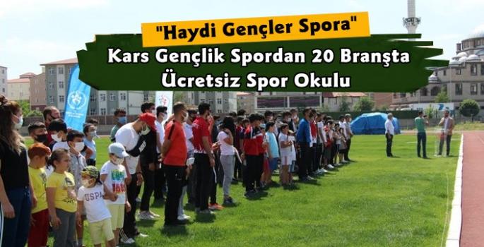 Kars'ta Gençlik Spordan Ücretsiz Spor Okulu
