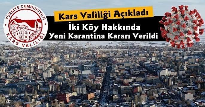 Kars'ta İki Köy Hakkında Yeni Karantina Kararı