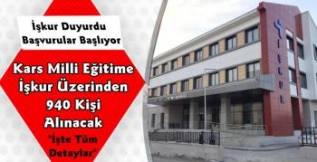Kars'ta İşkur Üzerinden Okullara 940 Personel Alınacak