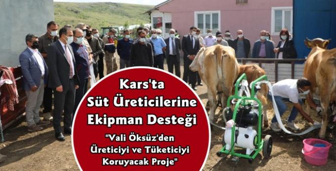 Kars'ta Süt Üreticilerine Valilik Desteği