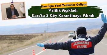Kars'ta Üç Köy Karantinaya Alındı