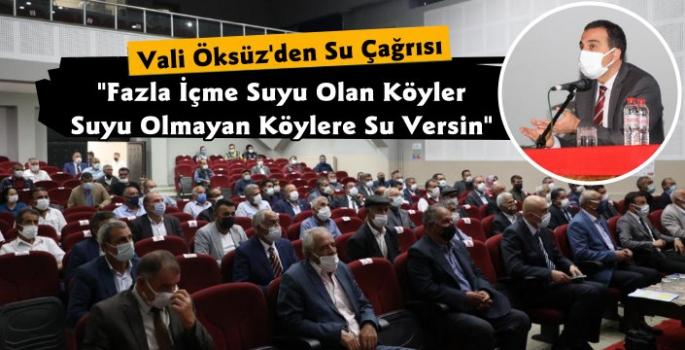 Kars Valisi Türker Öksüz'den Su Çağrısı