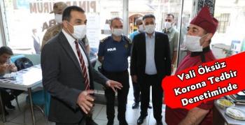 Kars Valisi Türker Öksüz Korona Tedbir Denetiminde