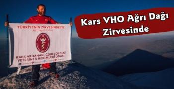 Kars VHO Ağrı Dağı Zirvesine Tırmandı