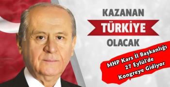 MHP Kars İl Kongresi 27 Eylül'de Yapılacak