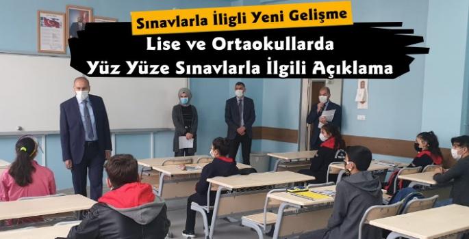 Milli Eğitim Bakanlığı'ndan Lise ve Ortaokullarda Sınav Duyurusu