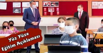 Okullarda Tüm Sınıflarda Yüz Yüze Eğitim 2 Kasım ve 23 Kasım Tarihlerinde Başlayacak