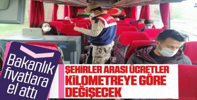 Otobüs Seferlerine Tavan Ücret Fiyatları Belirlendi