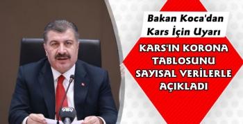 Sağlık Bakanı Koca'dan Kars Açıklaması