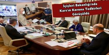 Vali Türker Öksüz Bakan Soylu ile Koronavirüs Değerlendirme Toplantısına Katıldı