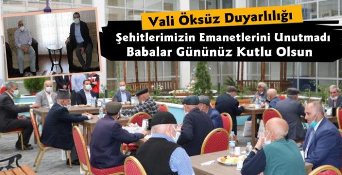 Vali Türker Öksüz Şehit Babalarını Unutmadı