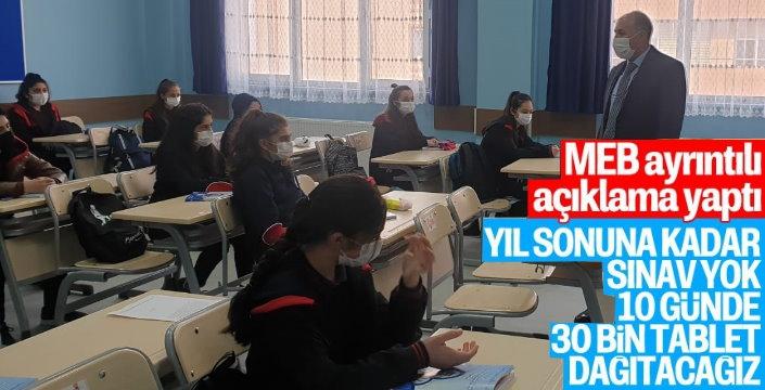 Milli Eğitim Bakanlığı'ndan Açıklama Yıl Sonuna Kadar Sınav Yok